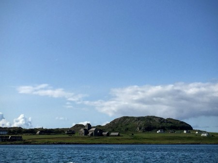 Iona Abbey and Dun i from the water
