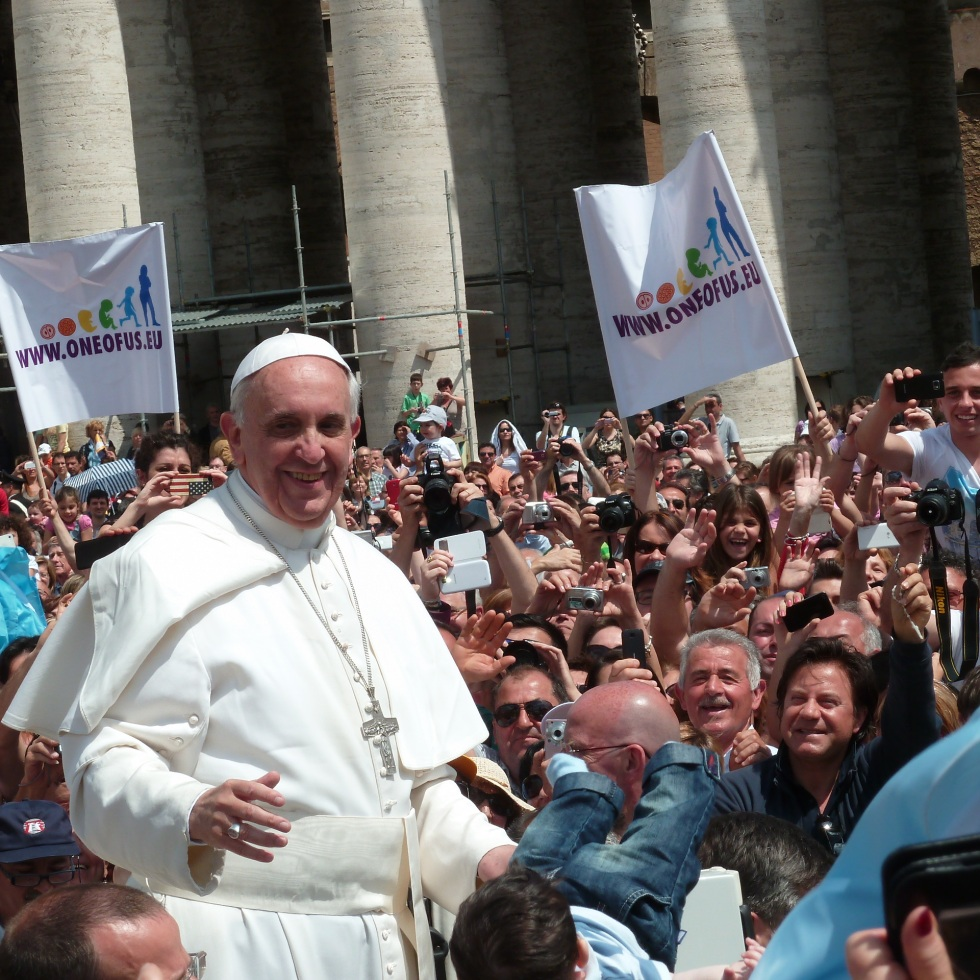 Pope Francis Among the People in St. Peter's Square